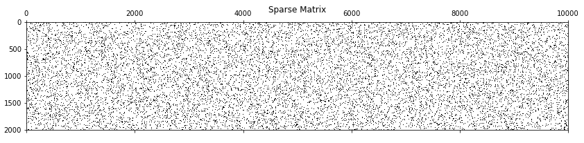 Sparse Matrices For Efficient Machine Learning - Standard